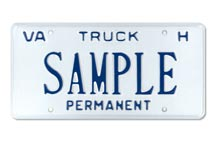 Truck For Hire Permanent Plate
