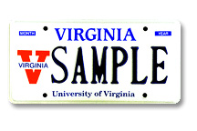 Univ of Virginia - Athletic Plate