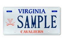 University of Virginia V-sabre Plate