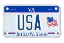 United We Stand Motorcycle Plate