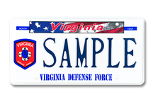 Virginia Defense Force Plate