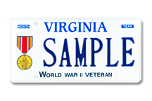 World War II Veteran Plate