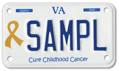 Cure Childhood Cancer Motorcycle Plate