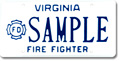 Firefighter (volunteer) Plate