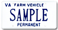 Farm Vehicle Permanent Plate