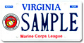 Marine Corps League Plate