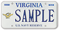 Navy Reserve Plate