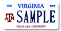Texas A & M University Plate
