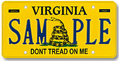 Don't Tread On Me Plate