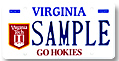 Virginia Tech - Go Hokies Plate