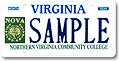 Northern Virginia Com College Plate
