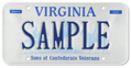 Sons of Confederate Veterans Plate