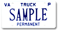 Truck Private Permanent Plate