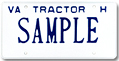 Tractor For Hire Plate