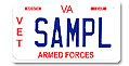 Veteran Armed Forces Motorcycle Plate