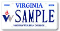 Virginia Wesleyan College Plate