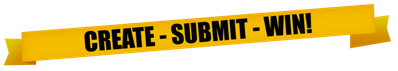 create, submit, win banner